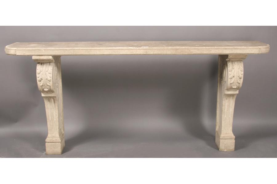 Cast Stone Console Table