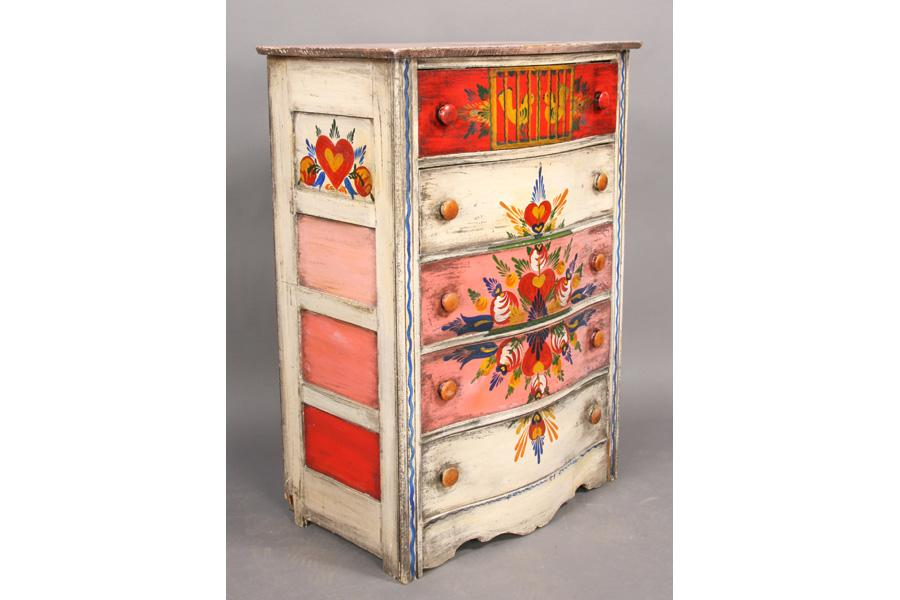 ... Image 3 : 3 PCS PETER HUNT PAINTED FURNITURE CHEST CHAIR ...