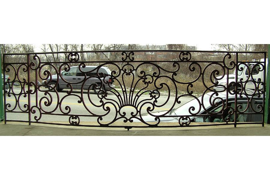 Antique iron 12 foot french balcony console for Balcony console