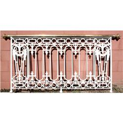 French iron balcony panel console for Balcony console