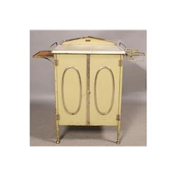 VINTAGE ART DECO METAL DOCTOR'S OFFICE CABINET