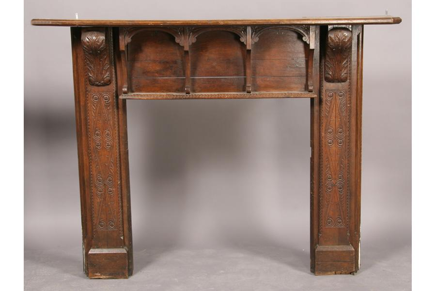 Tudor style oak fireplace mantle mantel for Tudor style fireplace