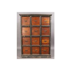 VINTAGE MULTIDRAWER STORAGE CABINET 12 DRAWERS