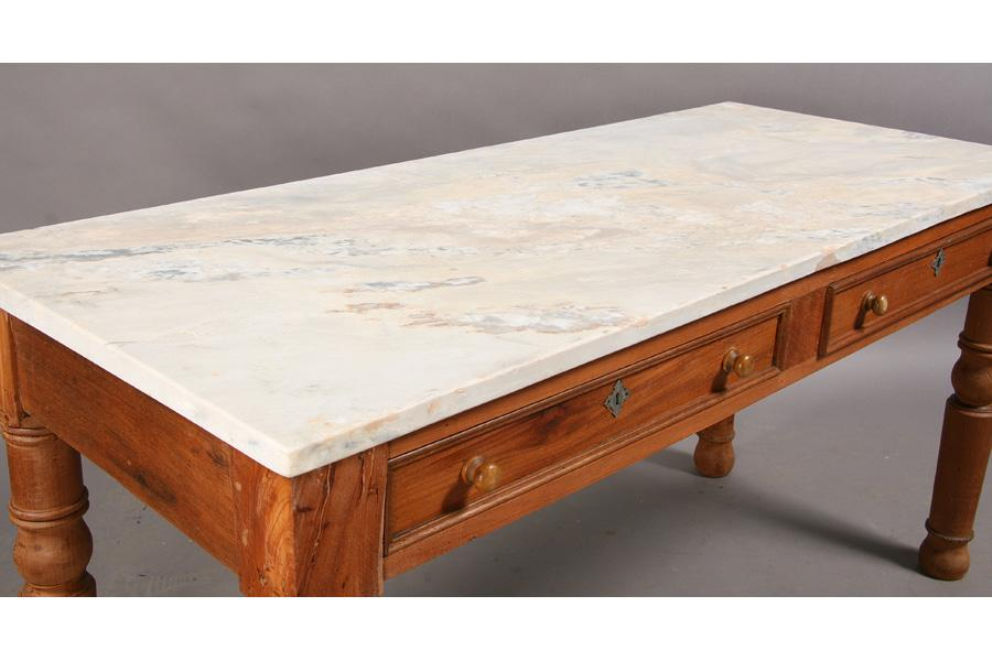 ... Image 4 : ANTIQUE MARBLE TOP PASTRY TABLE SLAB TOP ...