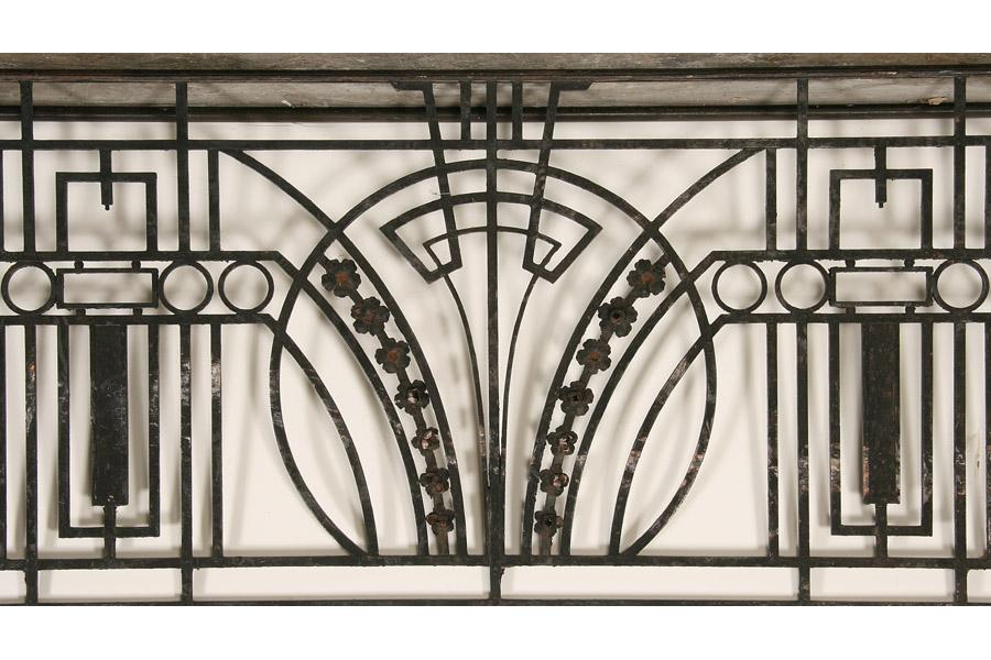 Wrought Iron Artwork Unique Art Deco Wrought Iron Balcony Panel With Returns Circa 1920. Design Decoration