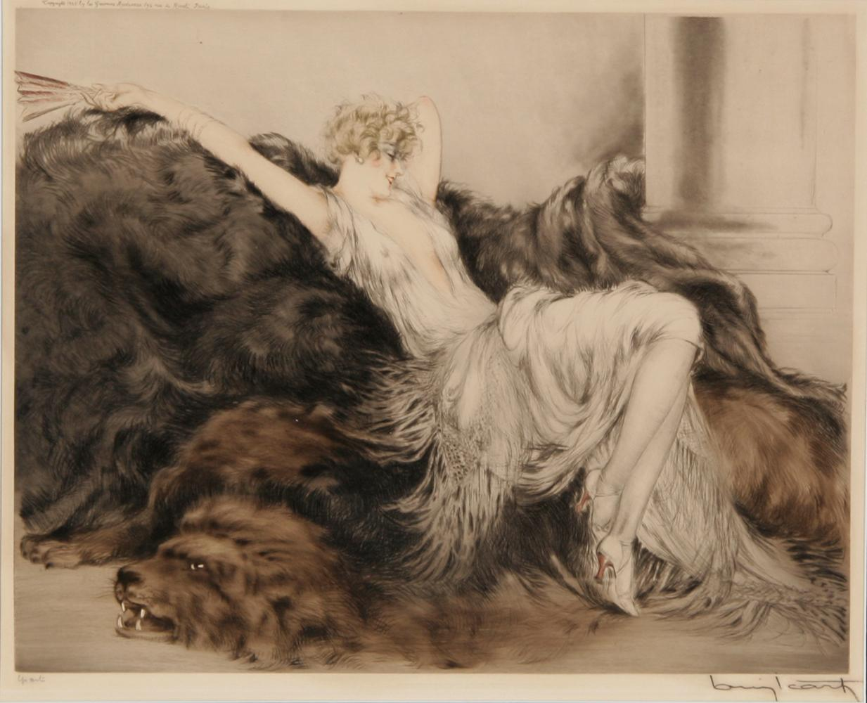 Louis icart paresse etching 1925 for Where to buy fine art