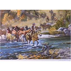 Conrad Schwiering, Lot of Two Western Lithographs