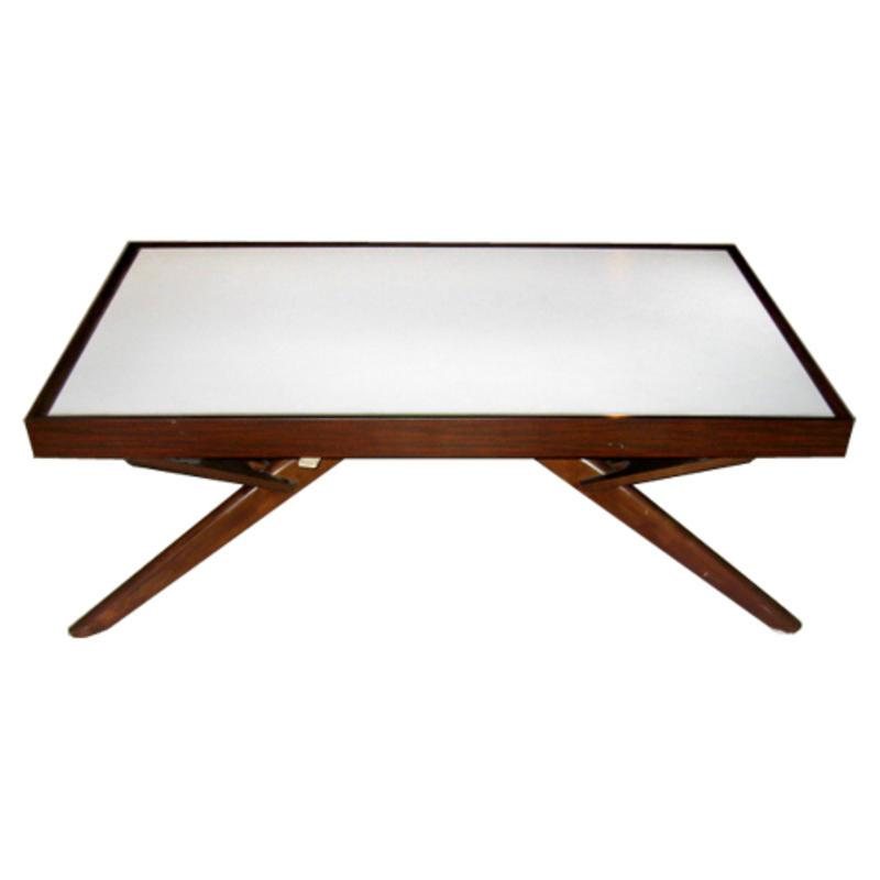 Mid Century Modern Convertible Coffee Dining Table Usa Circa 1950
