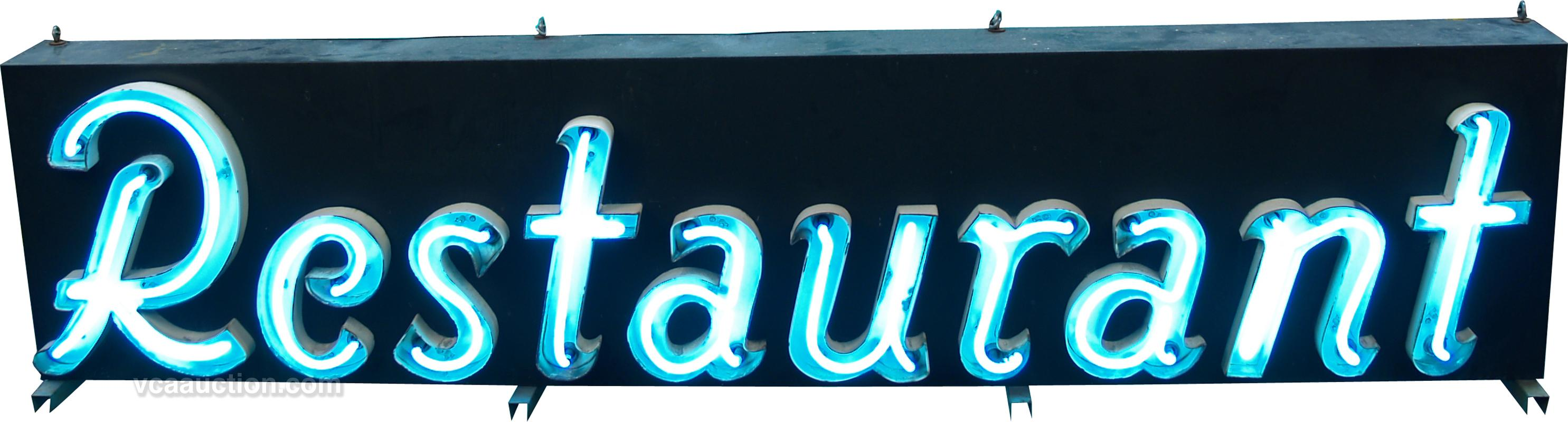 Large outdoor neon sign restaurant white large outdoor neon sign restaurant white loading zoom mozeypictures Gallery
