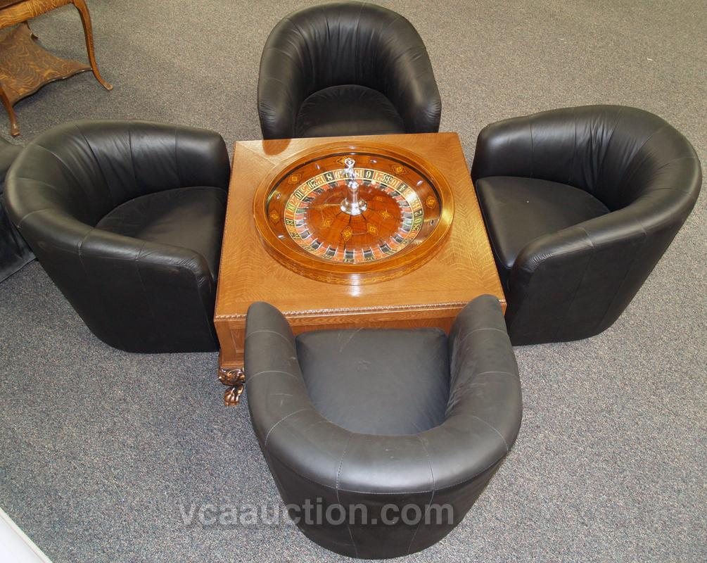 custom made roulette coffee table w early