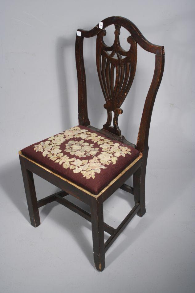 ... Image 3 : A Victorian Style Pine Rocking Chair with Caned Seat Together  with a Hepplewhite - A Victorian Style Pine Rocking Chair With Caned Seat Together With A