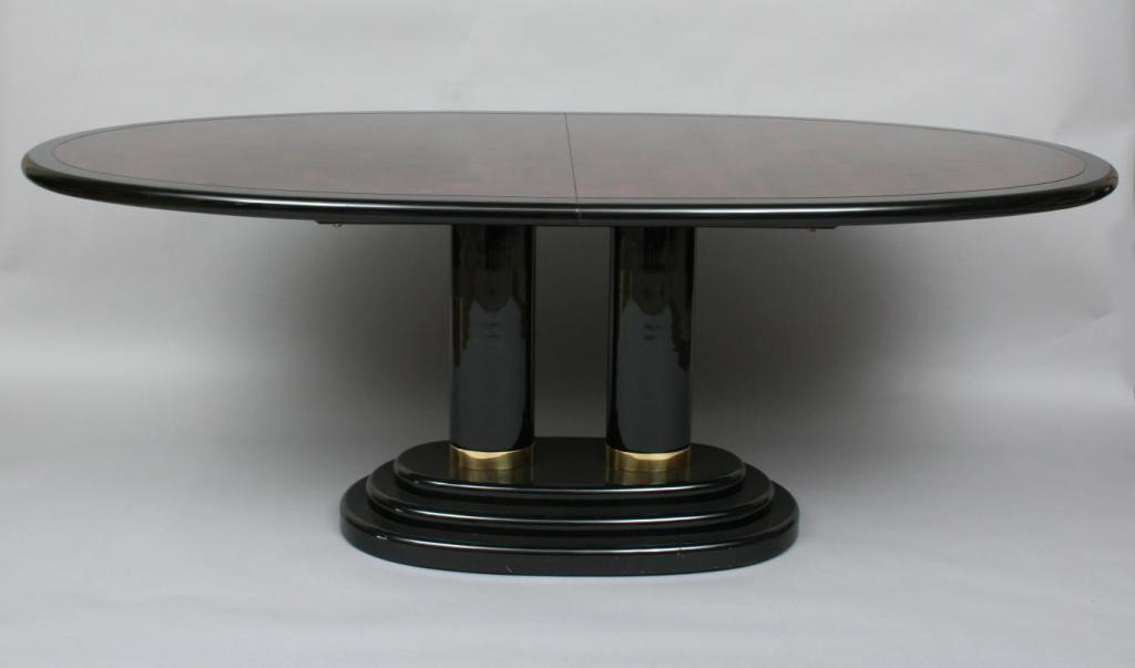 image 2 henredon black lacquer and burl dining table black lacquer dining room