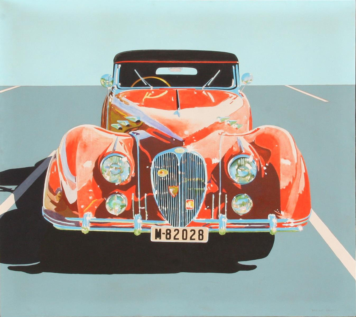 Automobile Painting In Montebello California Mail: Phyllis Krim, Delahaye, Classic Car Painting