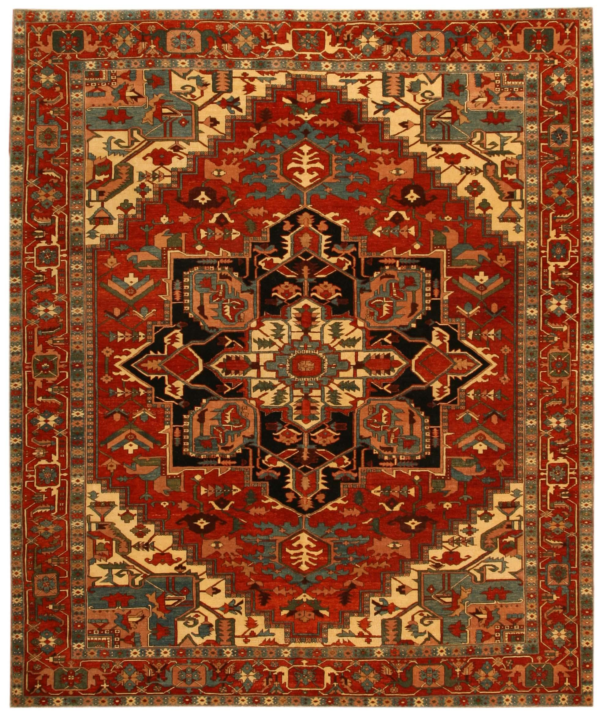 Heriz Design Turkish Rug Carpet 17823