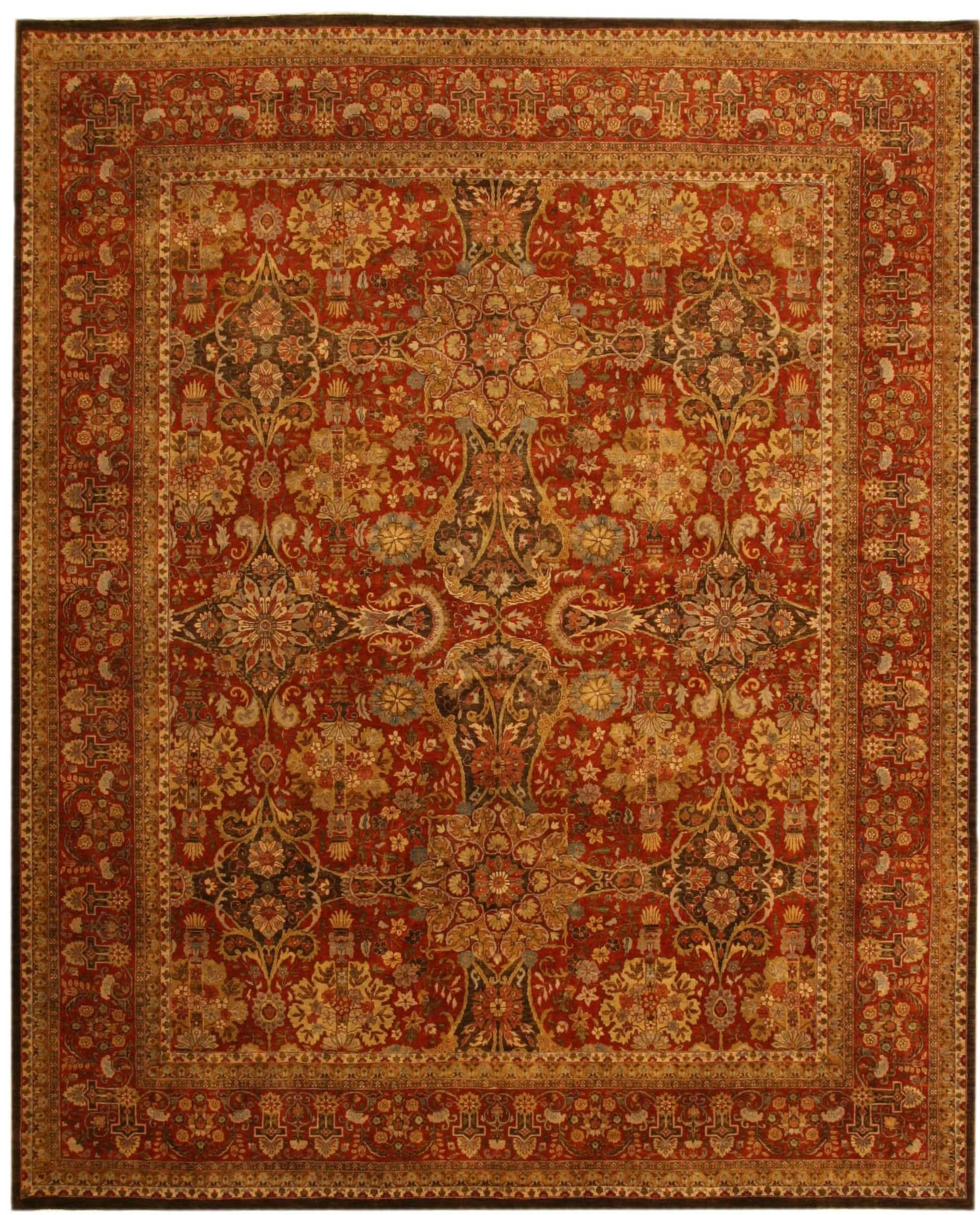 Mashad Design Indian Rug Carpet 17817 Loading Zoom