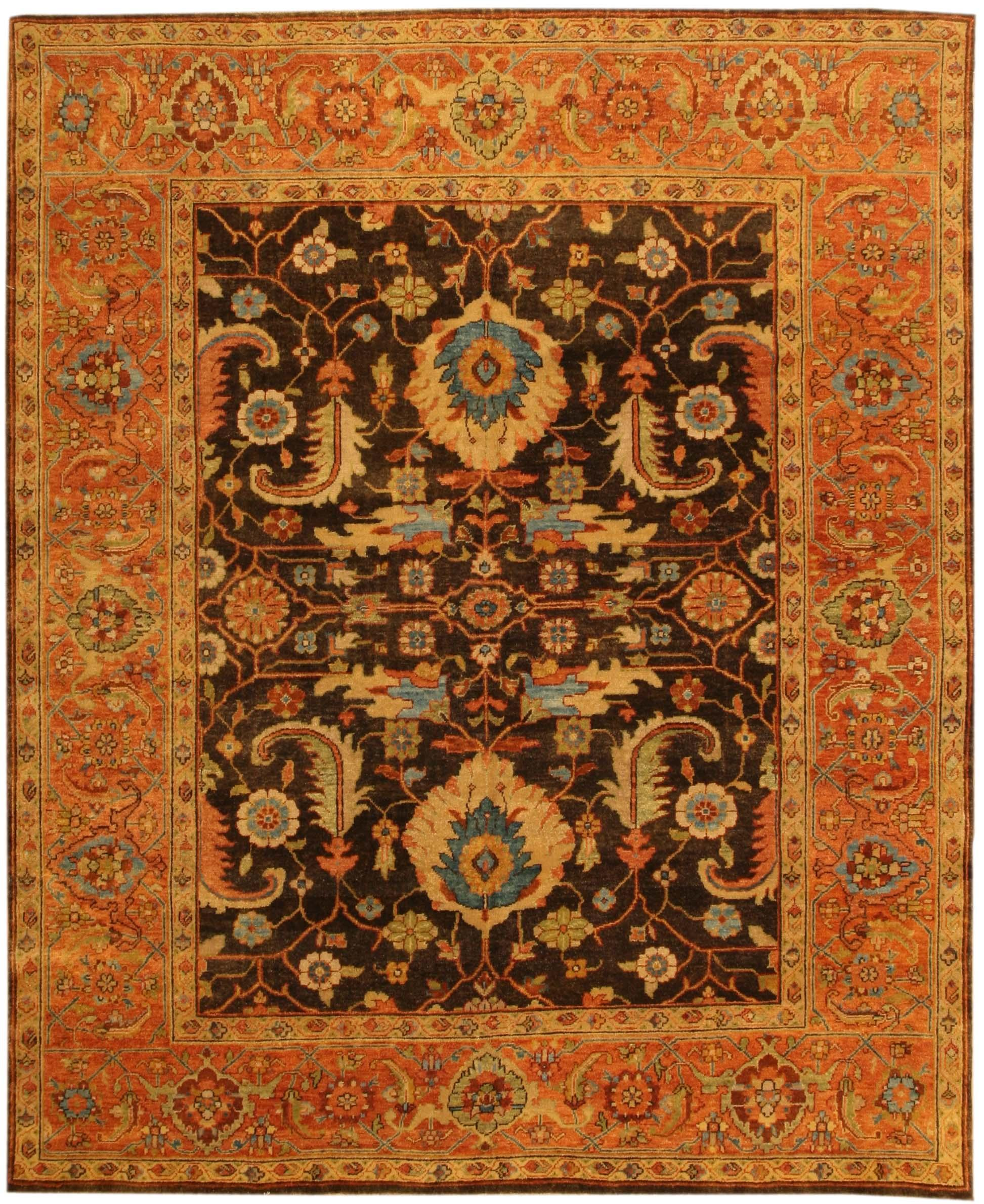 Mahal Design Indian Rug / Carpet 17871