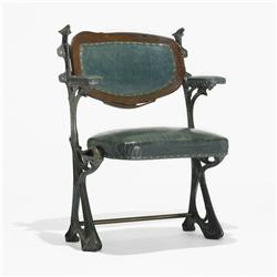 Hector Guimard chair from Humbert de Romans concert hall, Paris