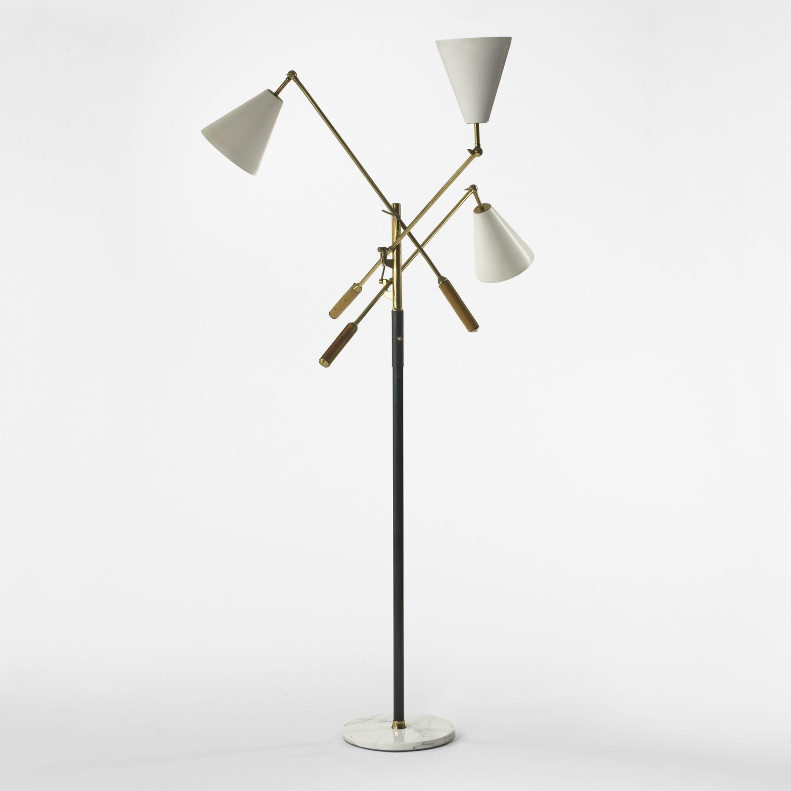 Arredoluce three arm floor lamp for Floor lamp 2 arms