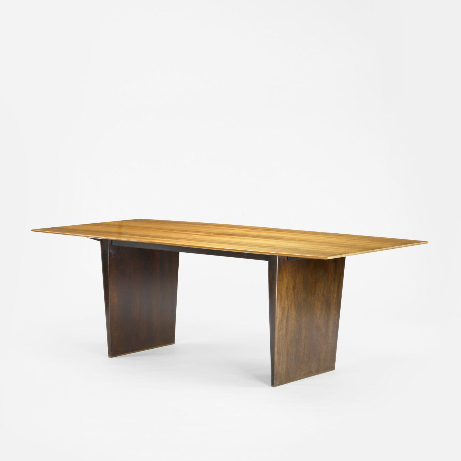 Edward wormley extension dining table model 5460 - Extension dining tables small spaces model ...