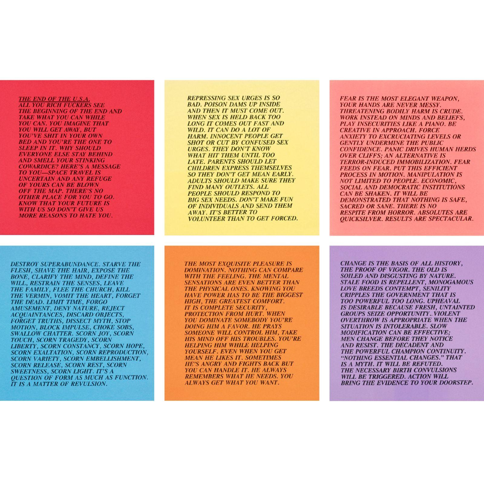 jenny holzer inflammatory essays and survival tips
