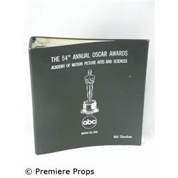 Mel Shavelson's 54th Academy Awards Script, 1982 Movie Memorabilia