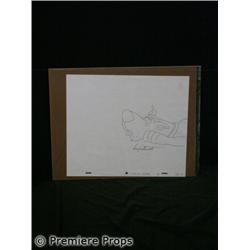 Original Scooby Doo Original Production Drawing Autographed