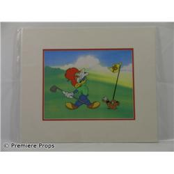 Woody Woodpecker Hole in One Original Limited Edition Fine Art Serigrapgh Cel