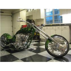 Transformers One-Off Custom Supercharged Green Motorcycle