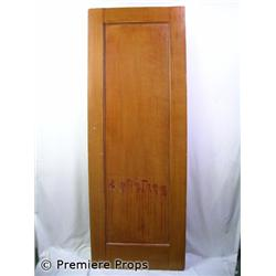 Knowing Brown Wooden Door With Bloody Numbers Movie Props
