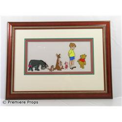 Original 7 Character Winnie the Pooh Framed Production Cel