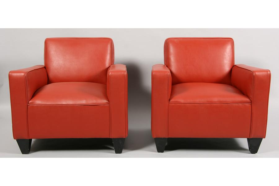 Pair Of French Art Deco Style Club Chairs