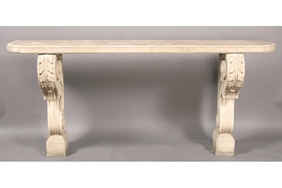 CLASSICAL CAST STONE GARDEN CONSOLE TABLE. Loading Zoom