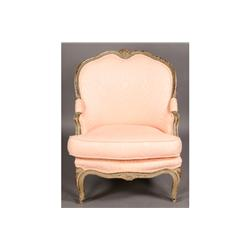 CARVED PAINTED VINTAGE L. XV BERGERE CHAIR