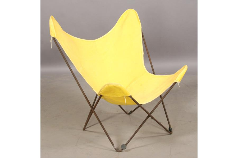 Great ... Image 4 : SET KNOLL VINTAGE IRON BUTTERFLY CHAIRS CANVAS