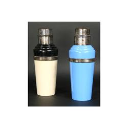 2PC LOT: 2 MASTER-IN-COLOR CHROME COCKTAIL SHAKER
