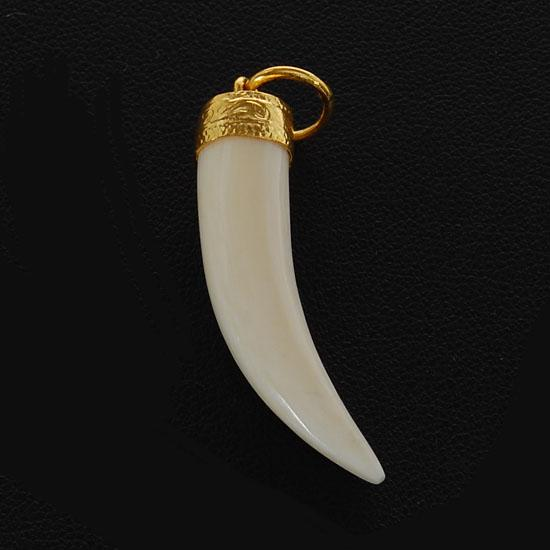 necklace pendant silver ancient ivory trade foreign retro wolf item men
