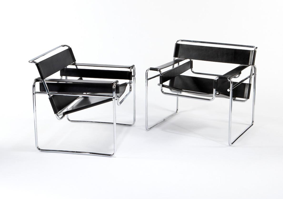 marcel breuer knoll pair of wassily chairs. Black Bedroom Furniture Sets. Home Design Ideas