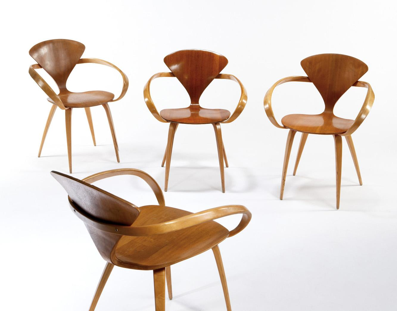 Image 1  Norman Cherner - Plycraft - Group of 4  Cherner  chairs  sc 1 st  iCollector.com & Norman Cherner - Plycraft - Group of 4