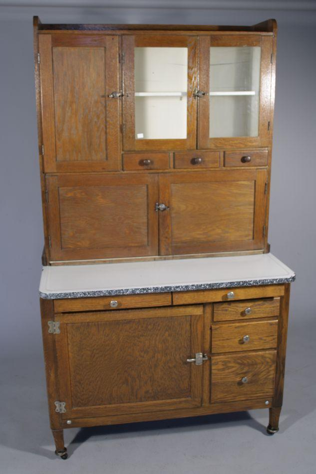 Image 1  An Arts and Crafts Style Oak Hoosier Cabinet. & An Arts and Crafts Style Oak Hoosier Cabinet.