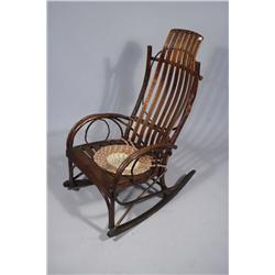 A Bent Willow Adirondack Style Rocking Chair