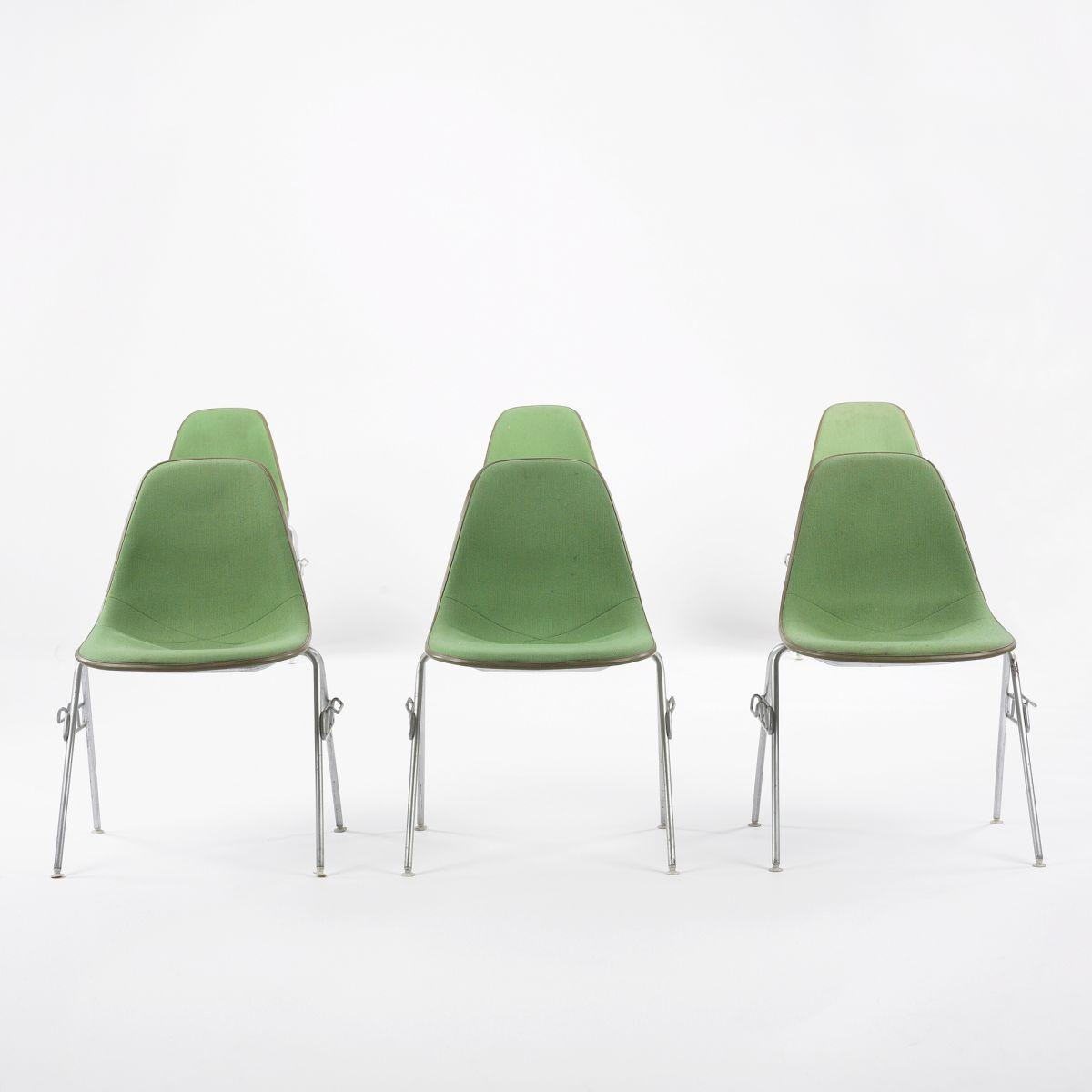 eames dss 1 stacking chairs set of six
