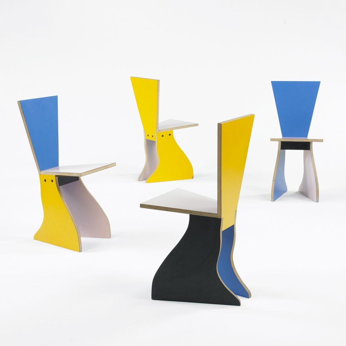 Alessandro Mendini Chairs Set Of Four
