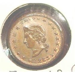 Racine, Wisconsin Civil War token.