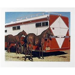 Richard McLean, Fillys with Trailer, Lithograph