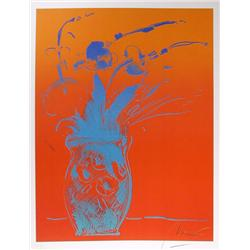 Peter Max, Blue Vase, Lithograph