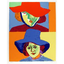John Grillo, Girl with Hat III, Serigraph