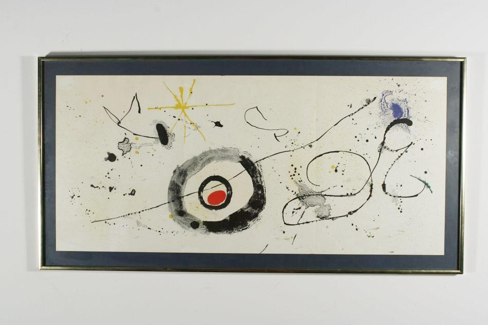 Joan miro spanish 1893 1983 triple page lithograph from for Miro derriere le miroir
