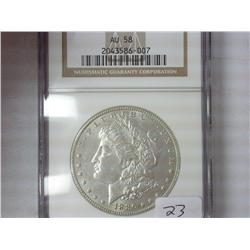 1886 Morgan Silver Dollar NGC AU58