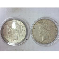 2-1922-D Peace Silver Dollars