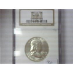 1962-D Franklin Half Dollar NGC MS65